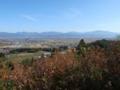 展望台から山形市方面を見るの図