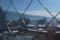 食堂の窓から竜山方面を見たところ