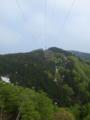 9号鉄塔から山頂方面を見るの図