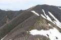 槍ヶ先付近から大尺山を眺めたところ