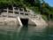 野川第二水力発電所の排水口