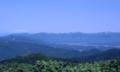 翁山山頂から向町方面を見るの図