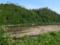 龍神吊り橋の脇から見る河島山