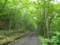 大師峠の未舗装区間