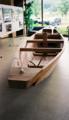 阿賀町鹿瀬支所展示の川舟