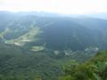 稜線上からJANGLE JUNGLEを見たところ