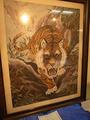 作品展・虎の刺繍
