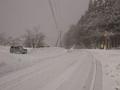 寺坂峠は吹雪だった