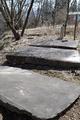 横臥浴の石