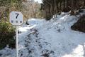 古道はまだ雪に埋もれてます