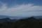 秋取峰前の急登から見る鳥海山の図