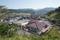 琴平岩から見る三瀬と琴平荘の図