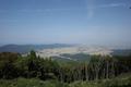 山頂四阿から見る庄内平野の図