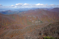 仙台神室山頂から見る二口峠の図