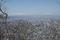 千歳山頂付近から見る山形市街の図