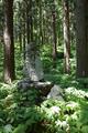 旧拝殿跡の石碑