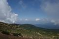 熊野岳から麓を見るの図