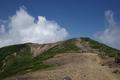 ワサ小屋跡から地蔵山を見たところ