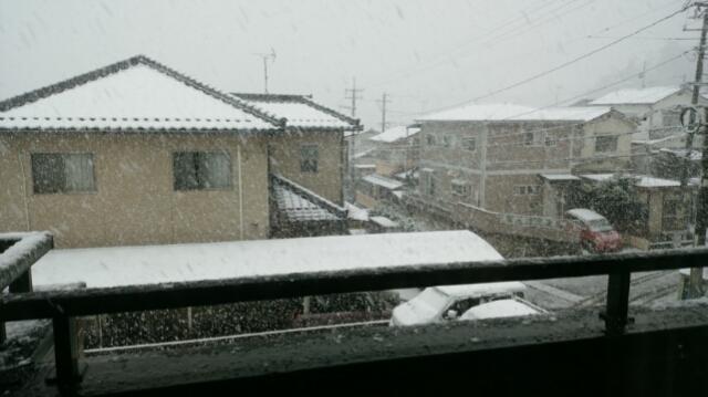 雪 積もる 窓