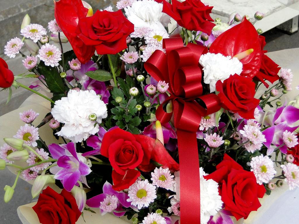 花束 花 バラ