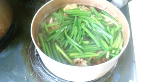 鍋 うどん 煮る ネギ