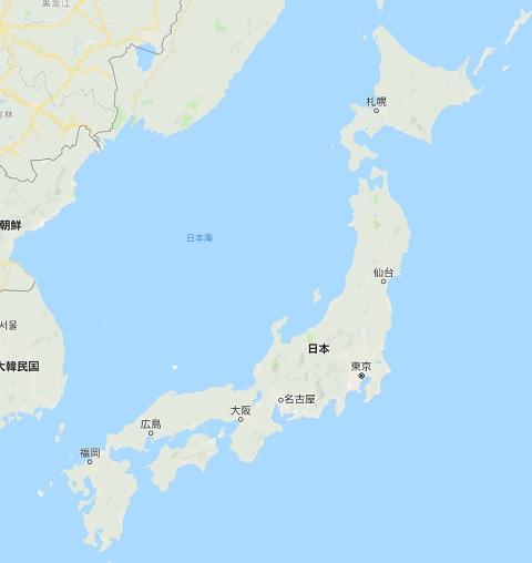 日本地図 47都道府県