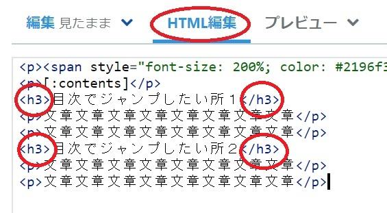 ブログ HTML