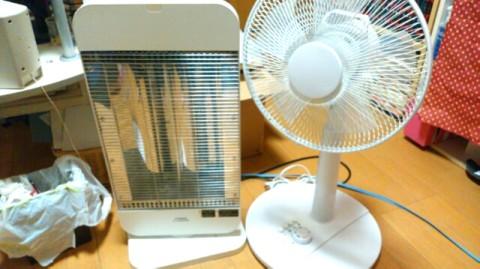 扇風機とヒーター