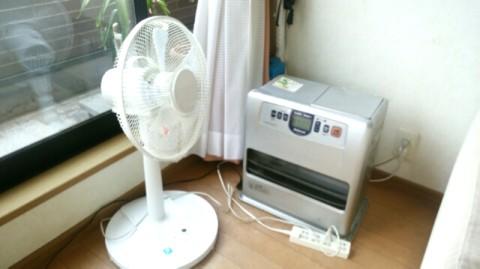 扇風機とファンヒーター