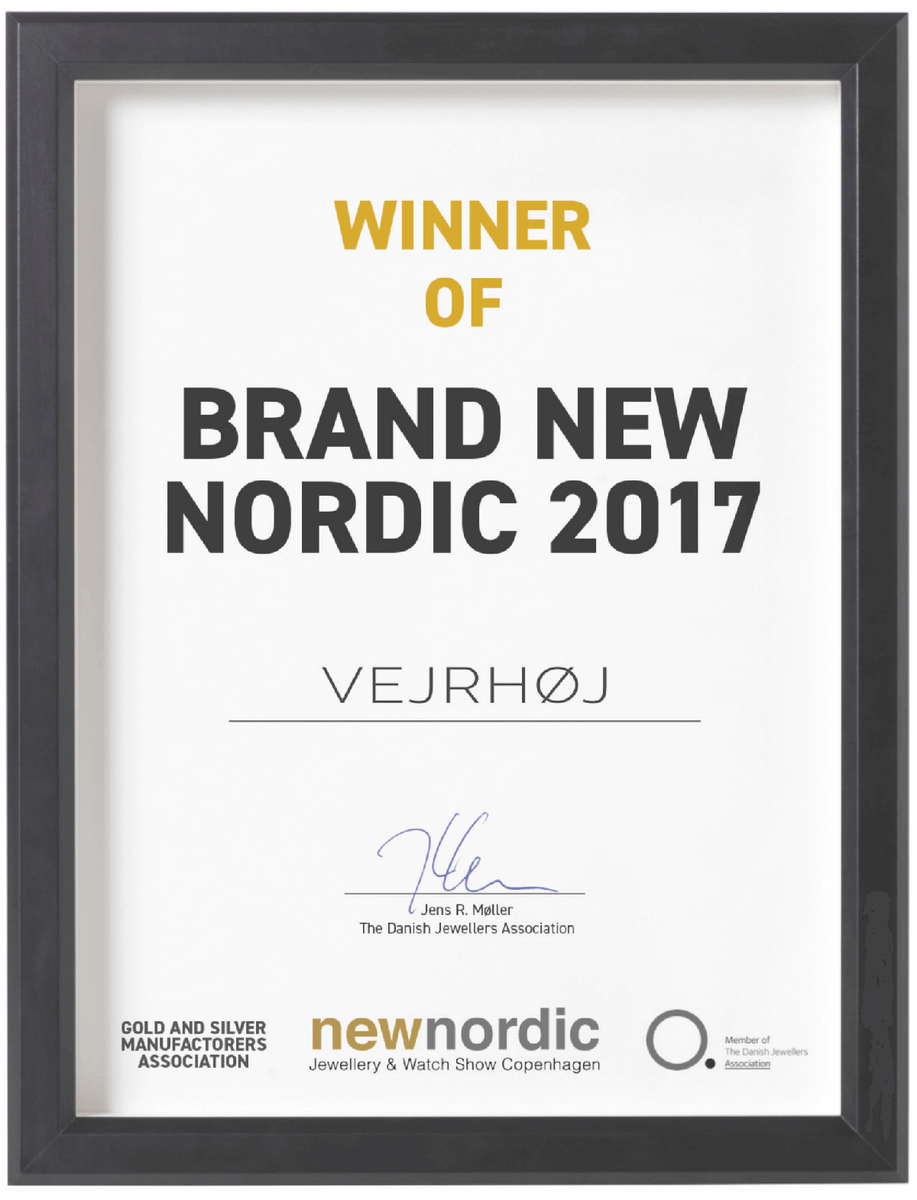 VEJRHOJ(ヴェアホイ)は最高賞にあたる「Brand New Nordic 2017」を受賞