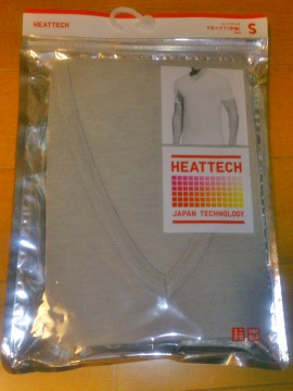ユニクロのヒートテックアンダーシャツの商品写真