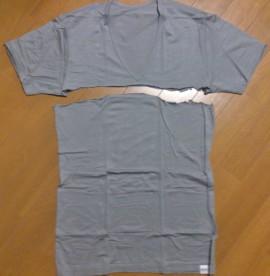 ヒートテックアンダーシャツを脇の下で切った写真