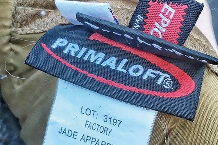 プリマロフトのネーム