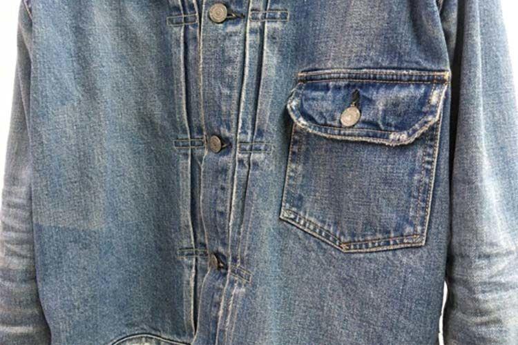 REMIRELIEFのデニムジャケットのポケットとプリーツ