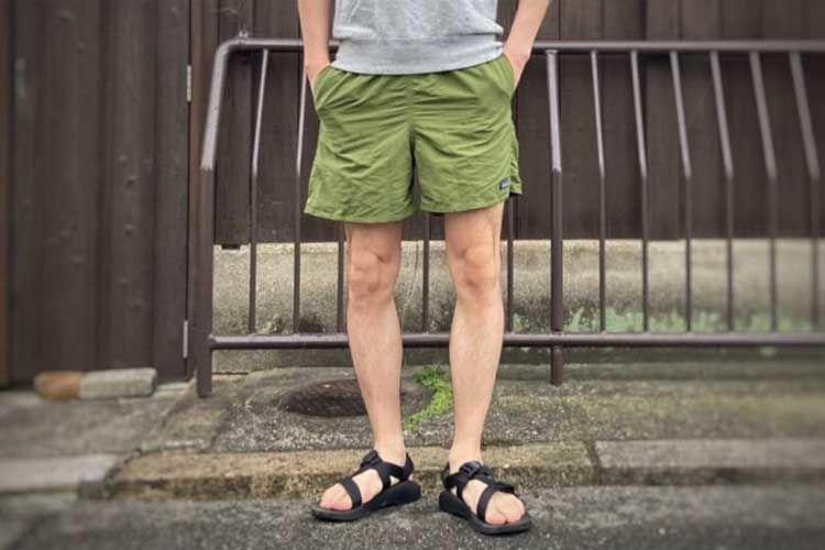 バギーズショーツの丈は膝上のショート丈