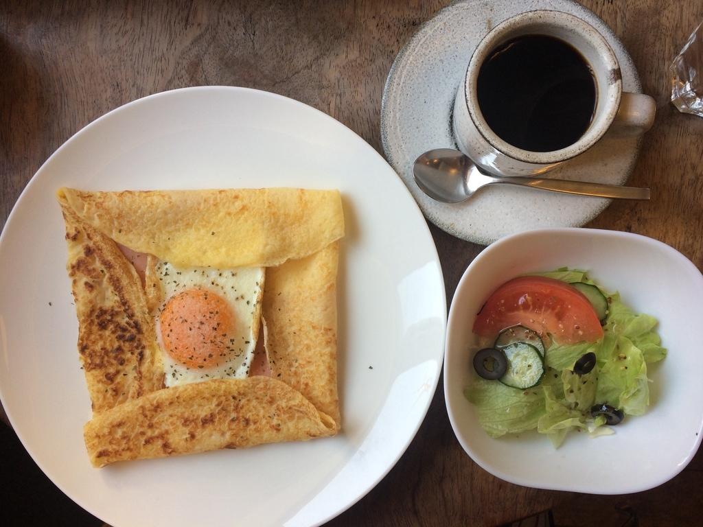 朝食 早起き クレープ モーニング コーヒー