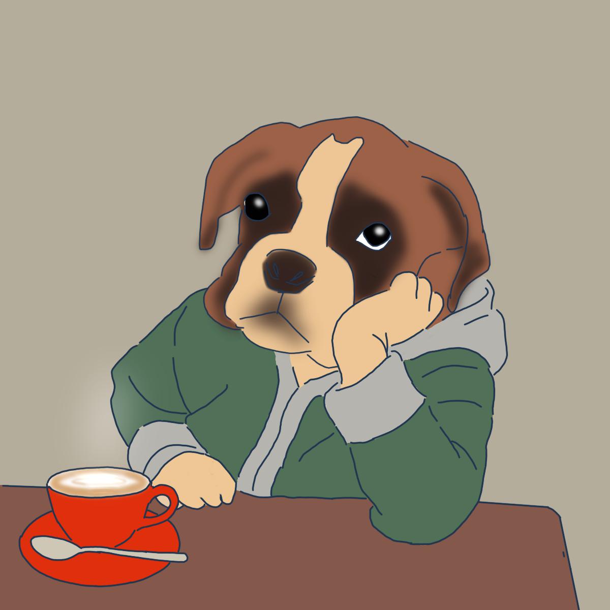コーヒー 犬