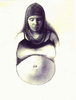 """Amy Pregnant in Chain Mail 