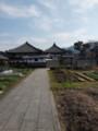 蘇我入鹿首塚から見た飛鳥寺
