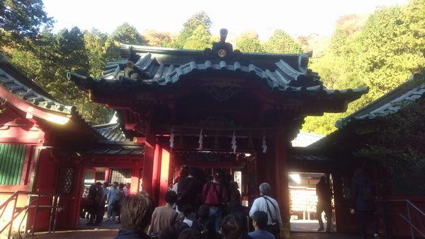 箱根神社混雑