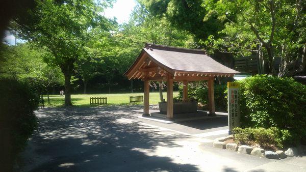静岡県護国神社駐車場付近