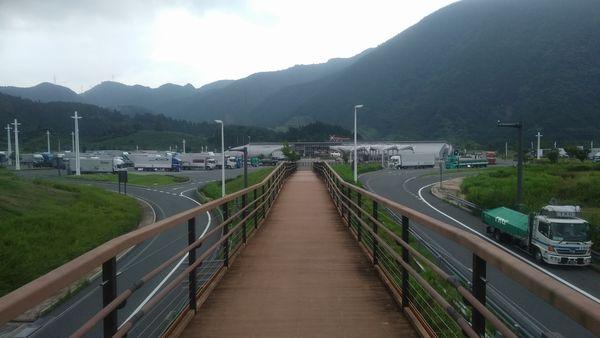 清水サービスエリア展望台への道