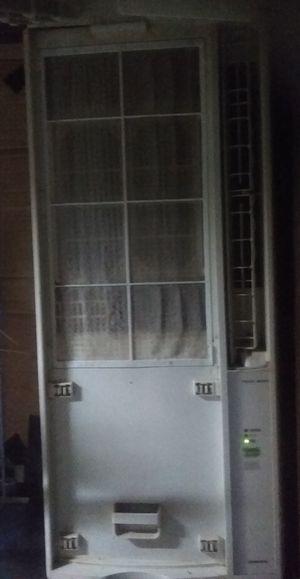 窓用エアコンフィルタ掃除
