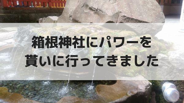 箱根神社にパワーを貰いに行ってきました