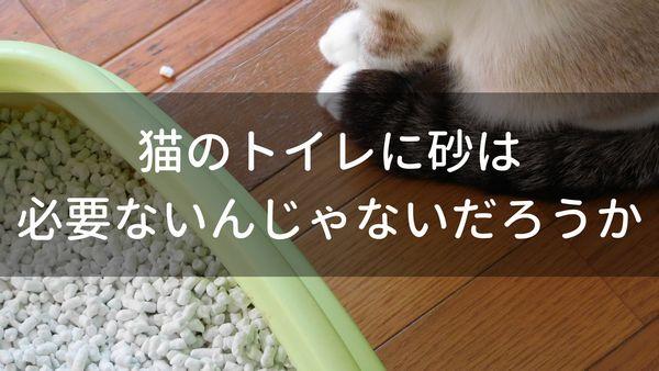 猫のトイレに砂は必要ないんじゃないだろうか