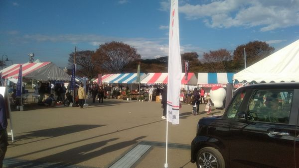 富士市産業まつり入口付近