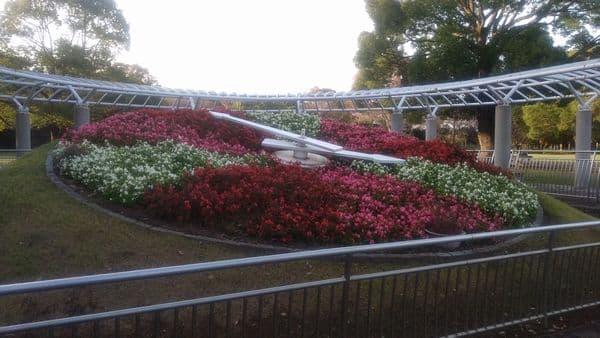富士中央公園花時計