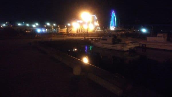 夜の清水港