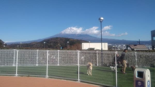 EXPASA富士川サービスエリアから見える上り富士山