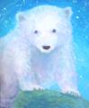 北極の夏の夜 / F0号キャンバス アクリル絵の具